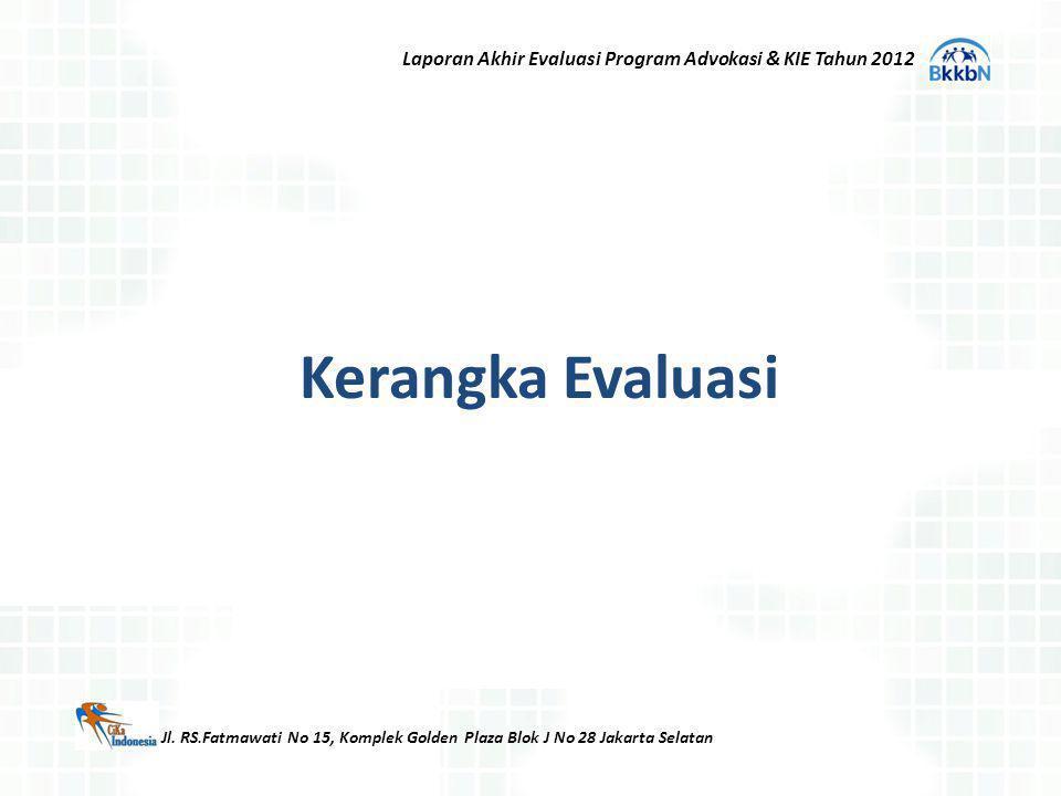 Laporan Akhir Evaluasi Program Advokasi & KIE Tahun 2012