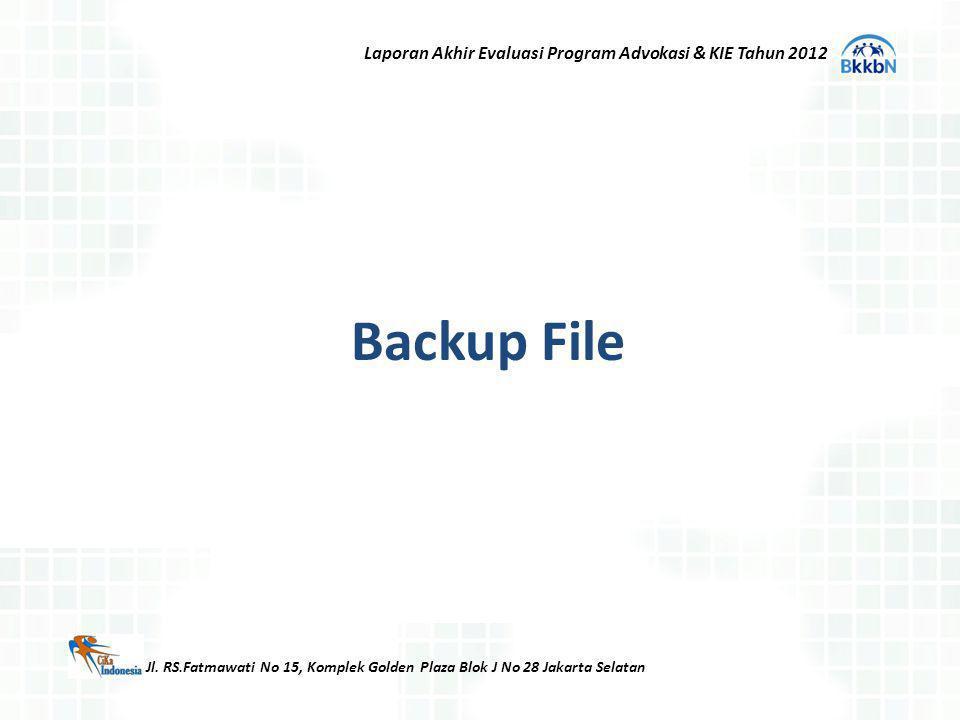 Backup File Laporan Akhir Evaluasi Program Advokasi & KIE Tahun 2012