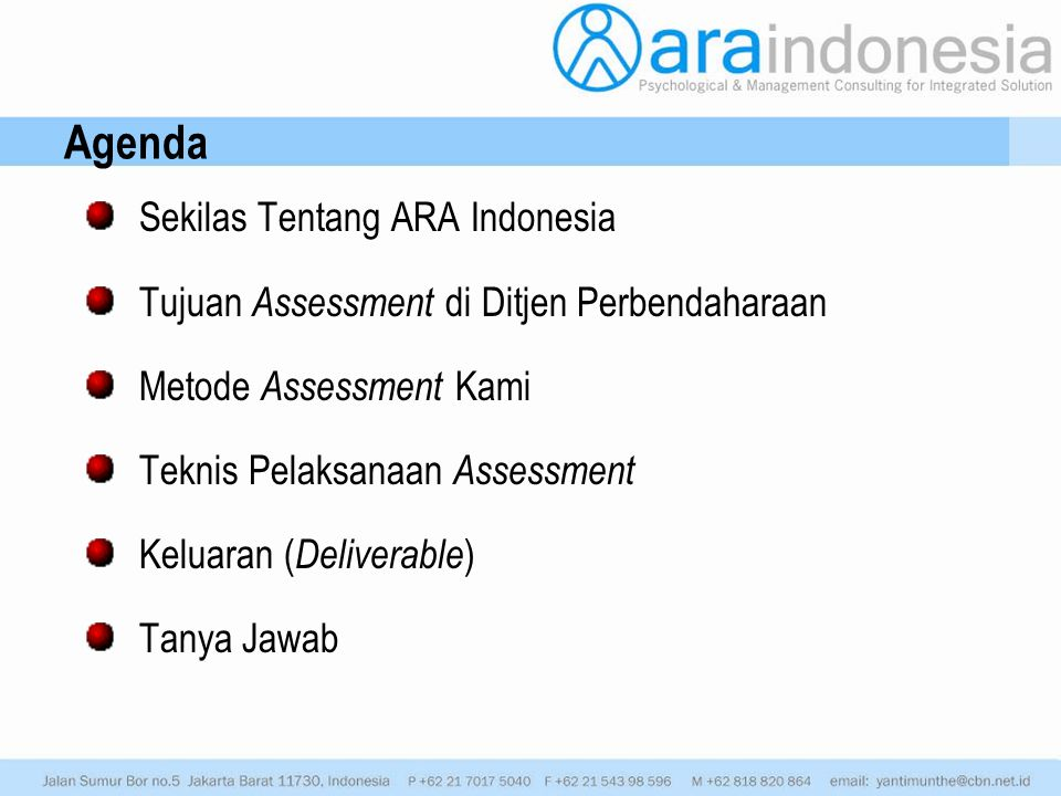 Agenda Sekilas Tentang ARA Indonesia