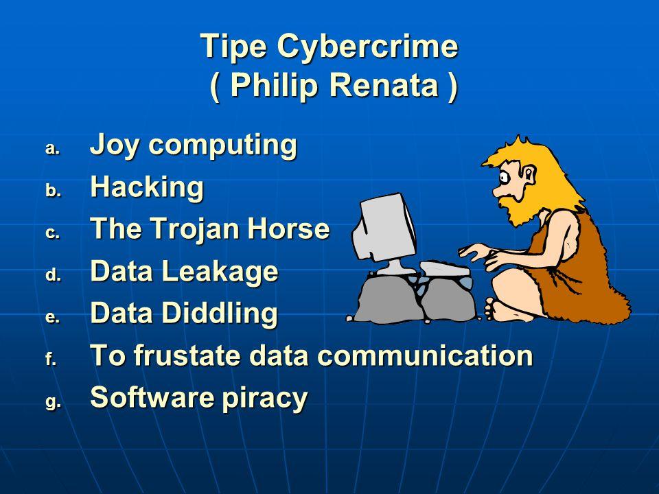 Tipe Cybercrime ( Philip Renata )