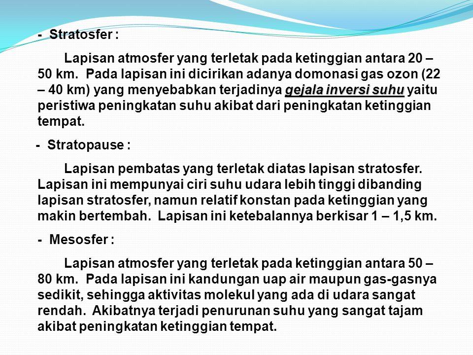 - Stratosfer :