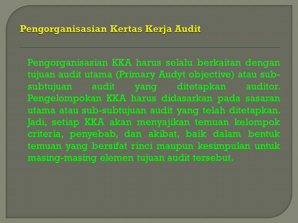 Pengorganisasian Kertas Kerja Audit