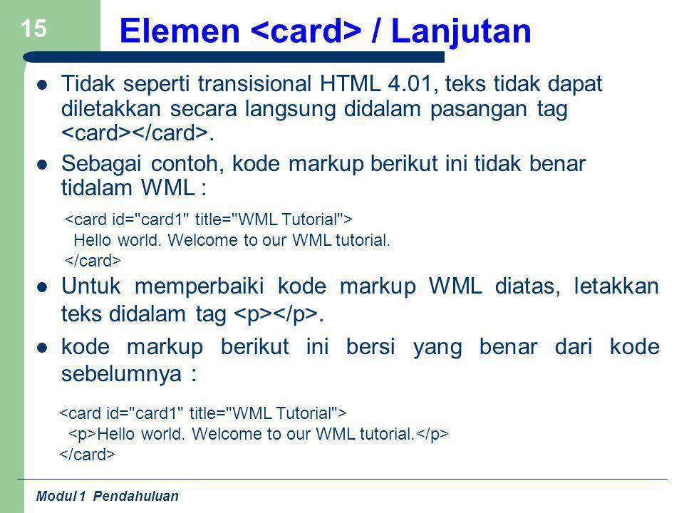 Elemen <card> / Lanjutan
