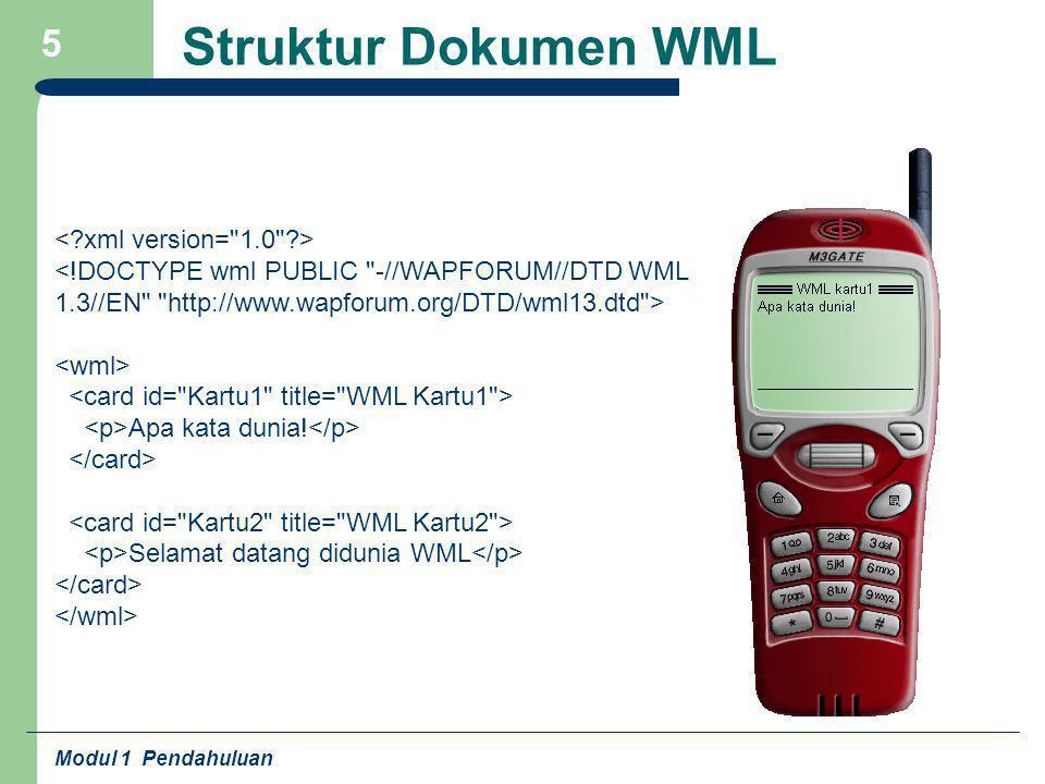 Struktur Dokumen WML