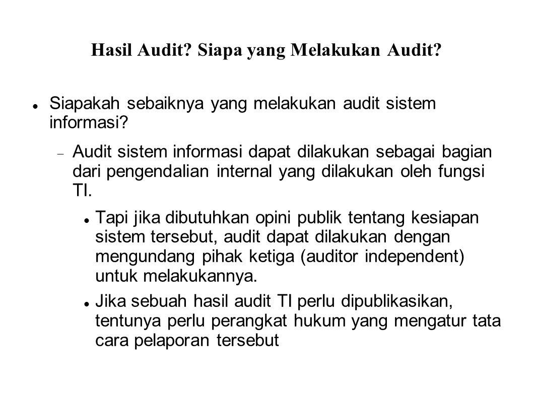 Hasil Audit Siapa yang Melakukan Audit