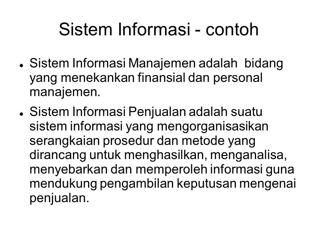 Sistem Informasi - contoh