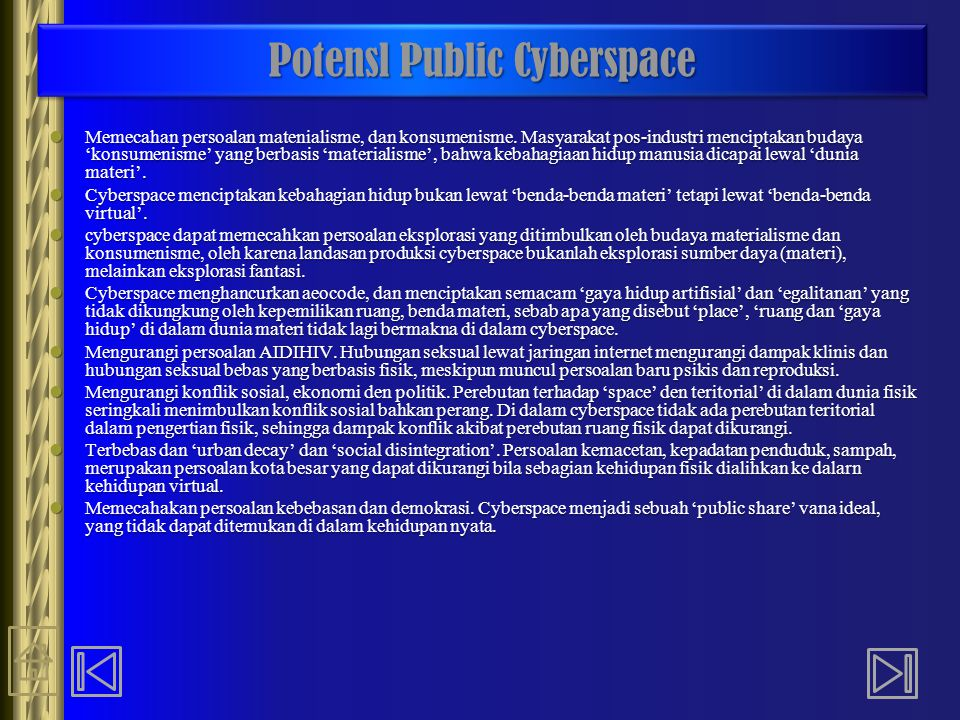 Potensl Public Cyberspace