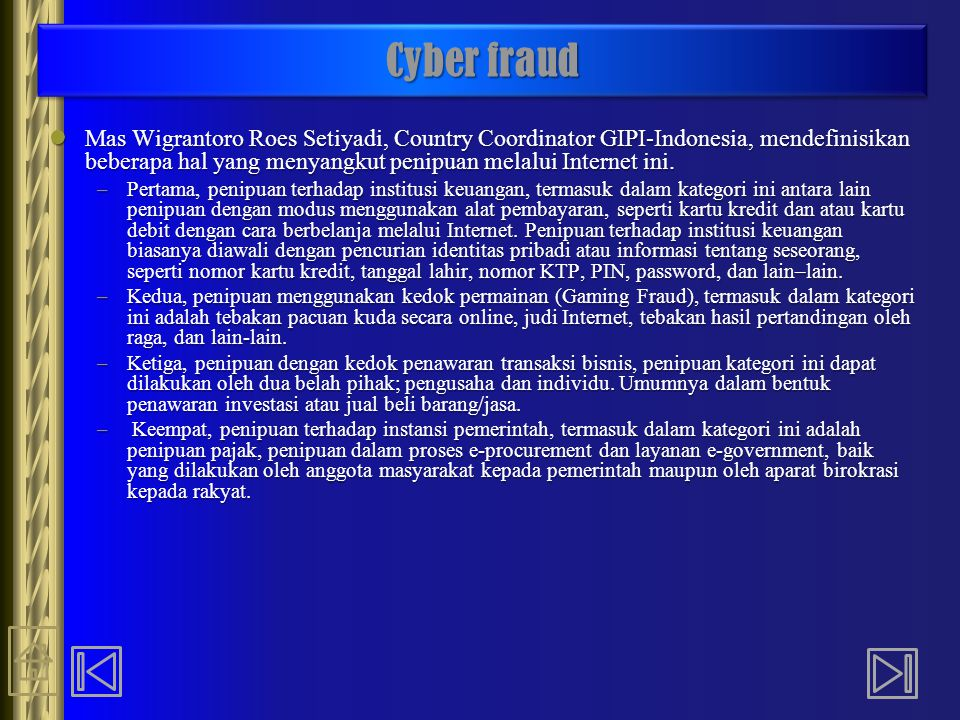Cyber fraud