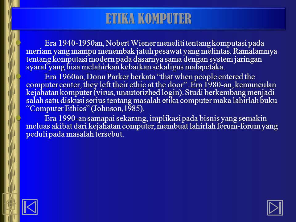 ETIKA KOMPUTER