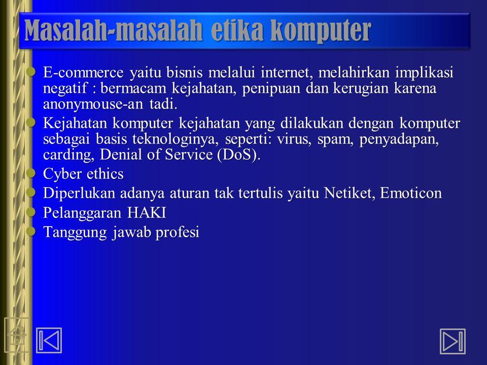 Masalah-masalah etika komputer