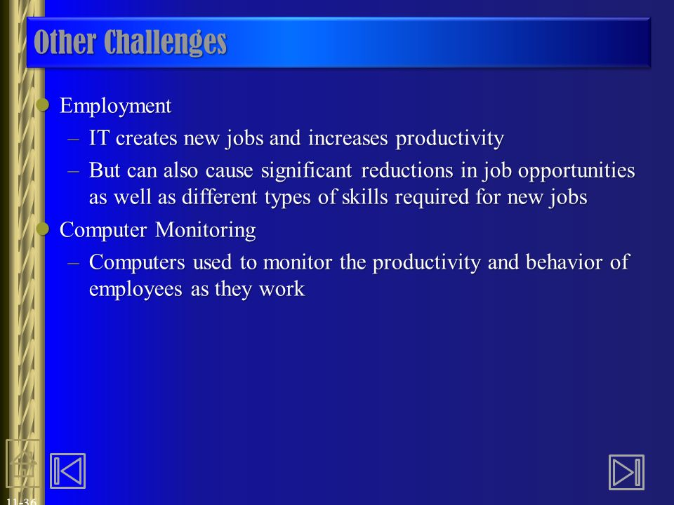 Other Challenges Employment