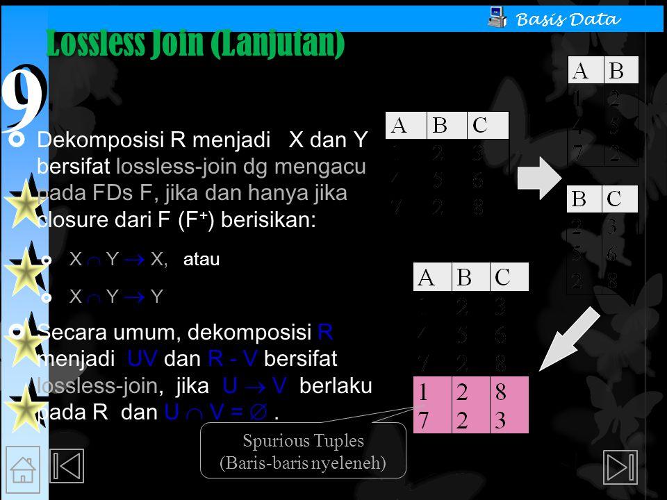 Lossless Join (Lanjutan)