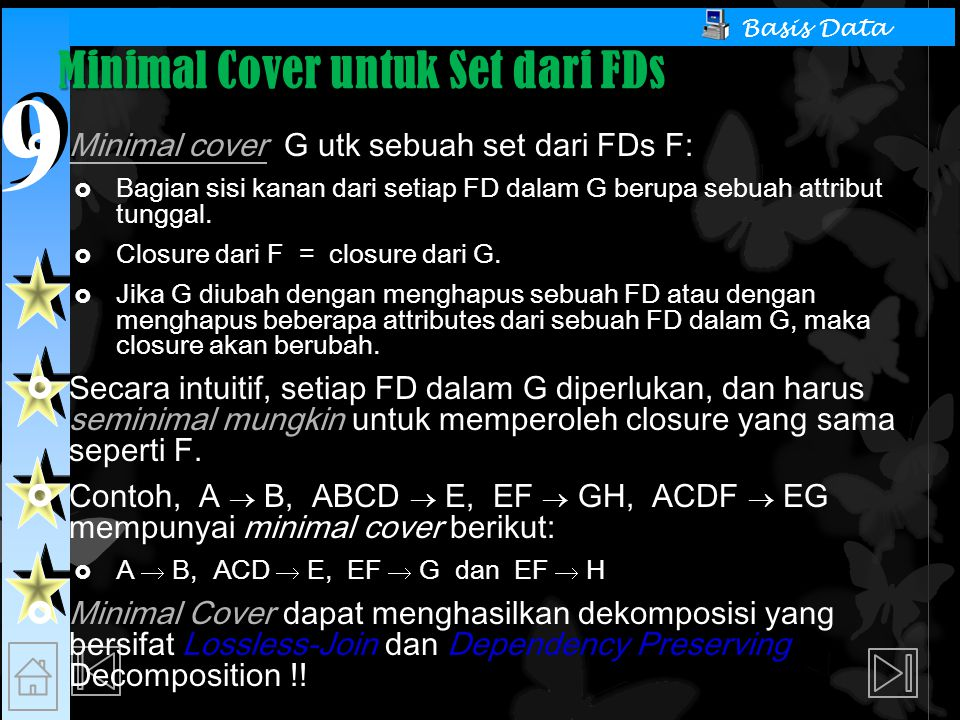 Minimal Cover untuk Set dari FDs