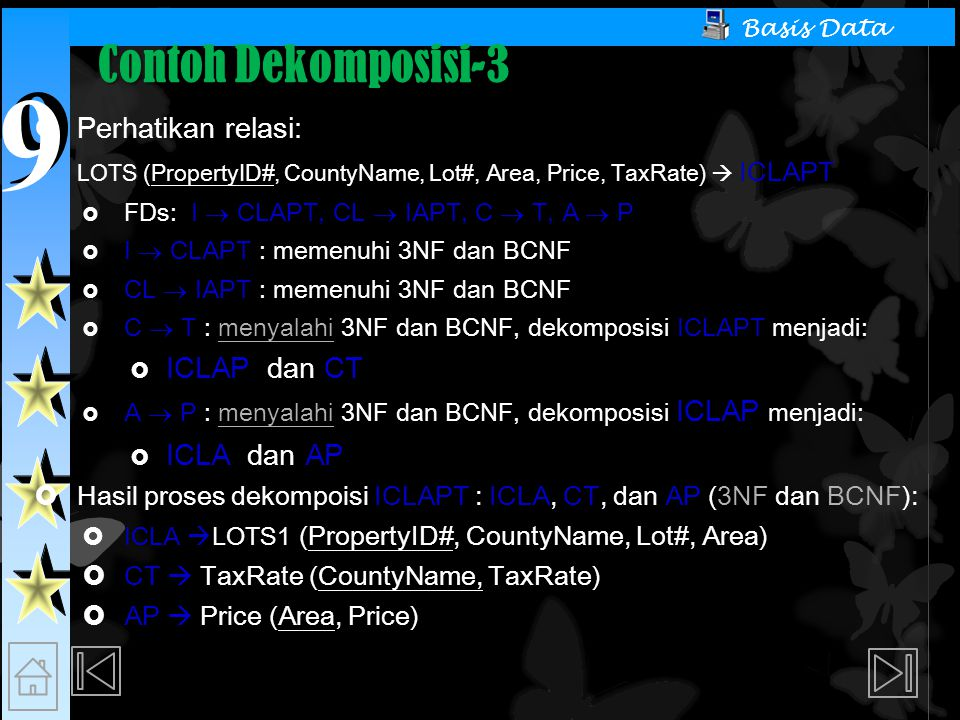 Contoh Dekomposisi-3 Perhatikan relasi: