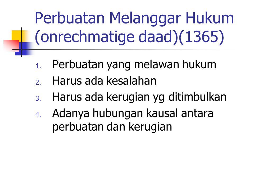 Perbuatan Melanggar Hukum (onrechmatige daad)(1365)