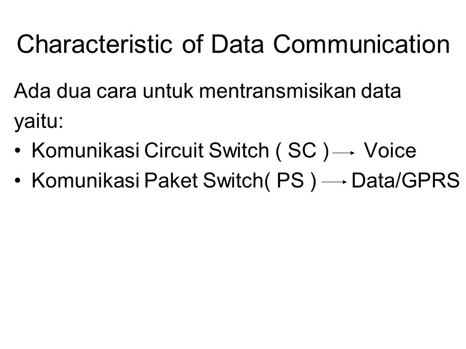 Characteristic of Data Communication
