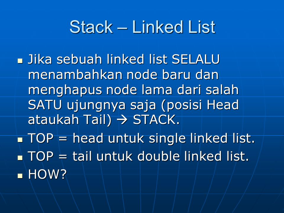 Stack – Linked List