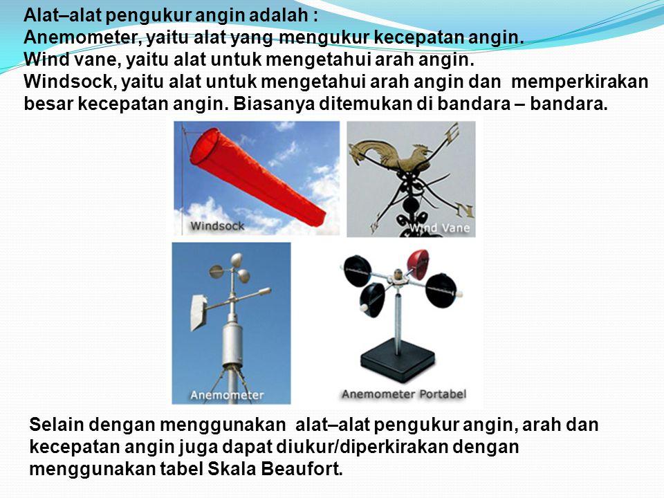Alat–alat pengukur angin adalah :