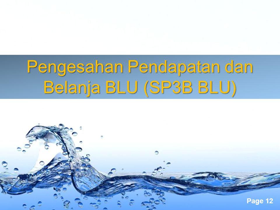 Pengesahan Pendapatan dan Belanja BLU (SP3B BLU)