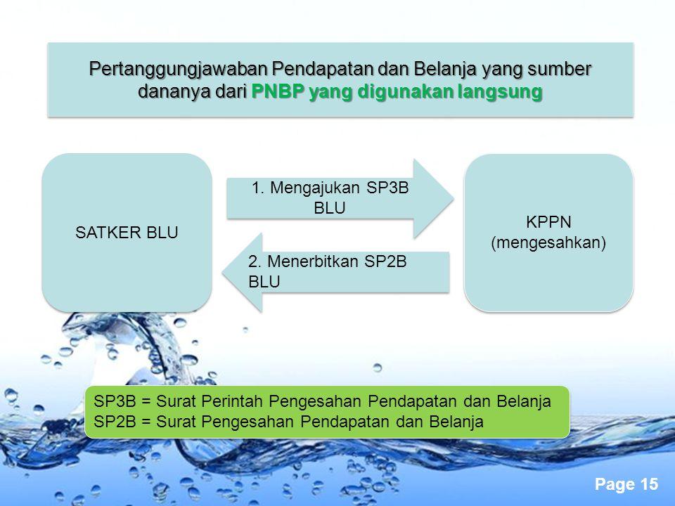 Pertanggungjawaban Pendapatan dan Belanja yang sumber dananya dari PNBP yang digunakan langsung