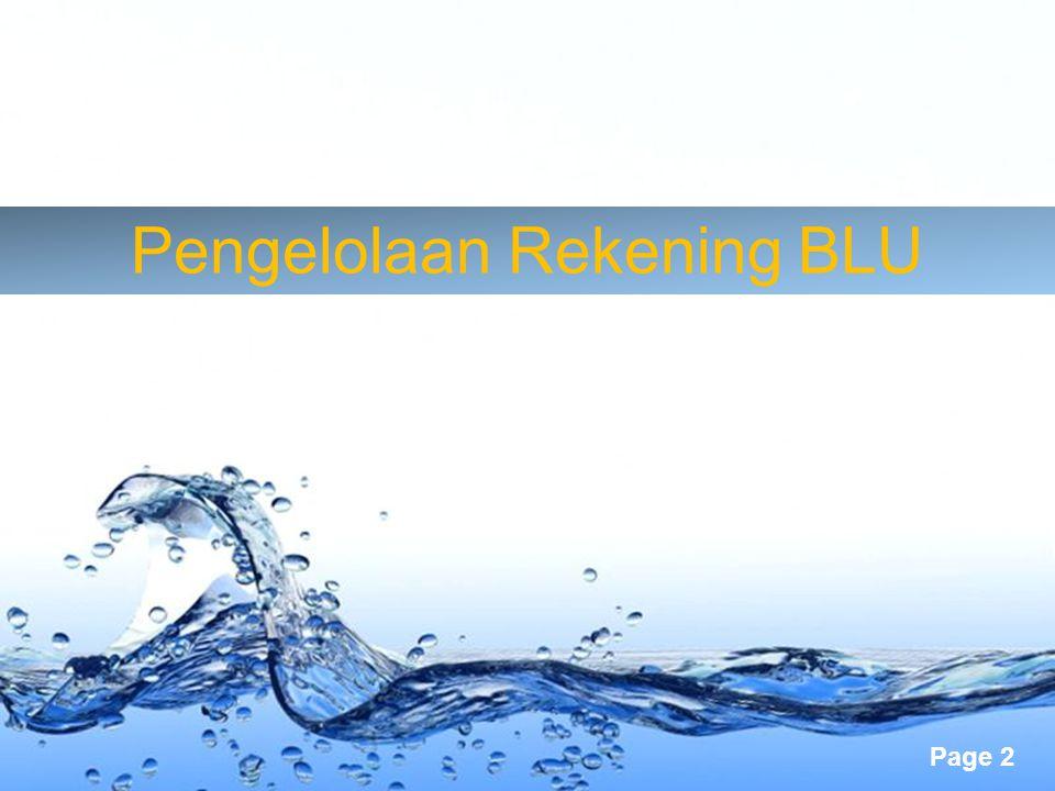 Pengelolaan Rekening BLU