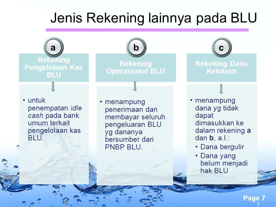 Jenis Rekening lainnya pada BLU