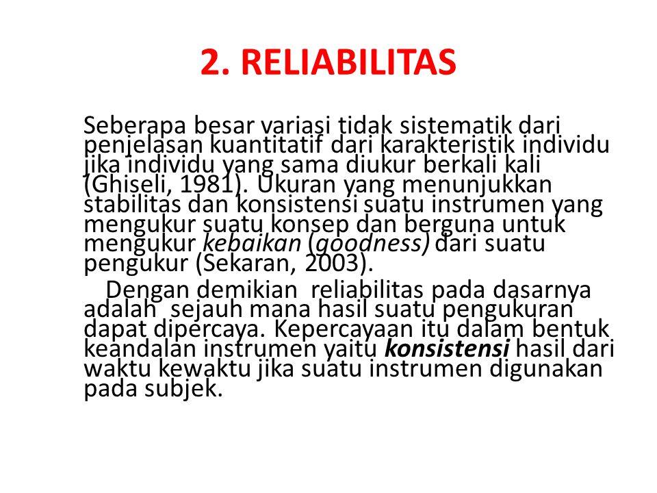 2. RELIABILITAS