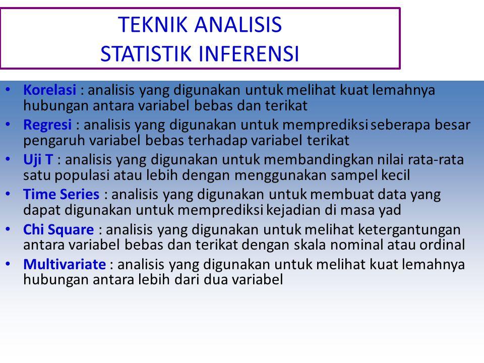 TEKNIK ANALISIS STATISTIK INFERENSI