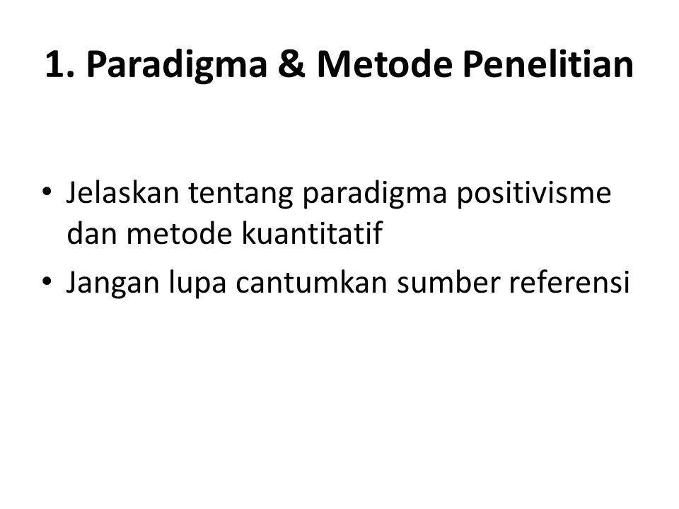 1. Paradigma & Metode Penelitian