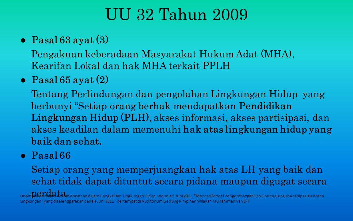 UU 32 Tahun 2009