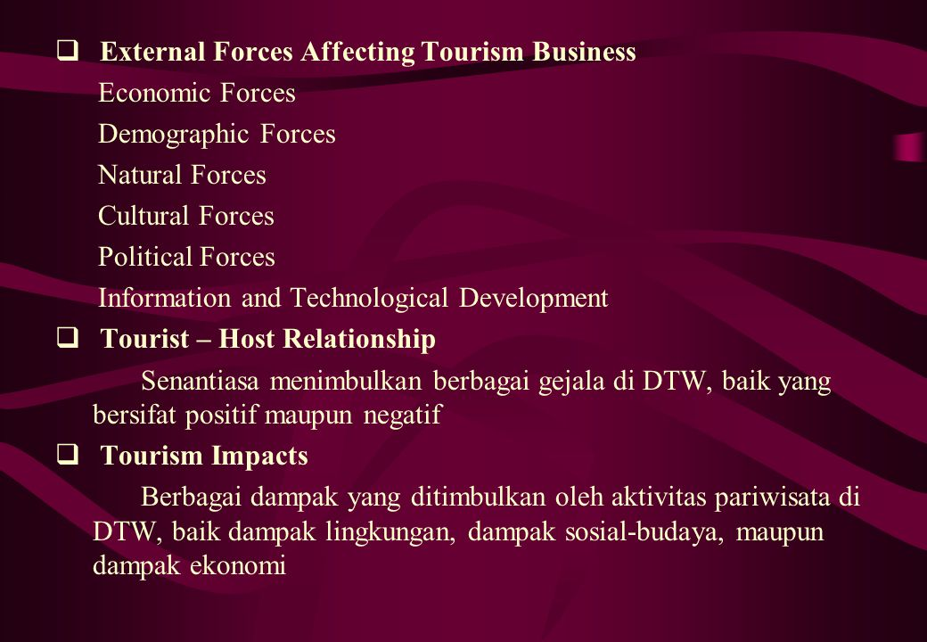 external forces that effect marks and