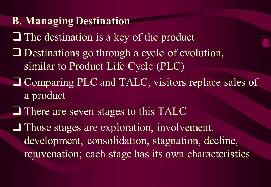 B. Managing Destination