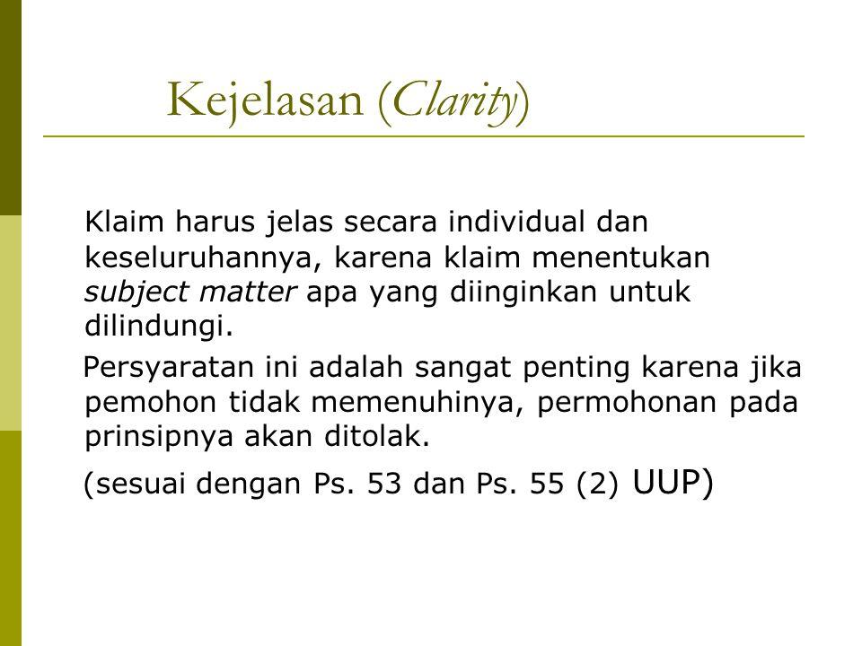 Kejelasan (Clarity)
