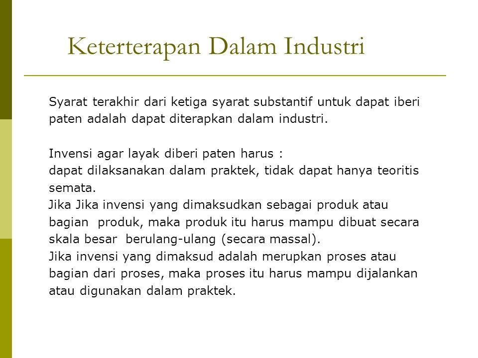 Keterterapan Dalam Industri