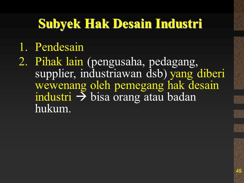 Subyek Hak Desain Industri