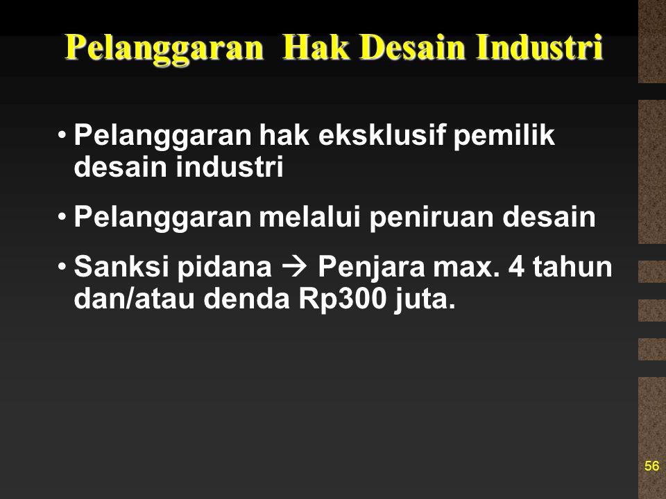 Pelanggaran Hak Desain Industri