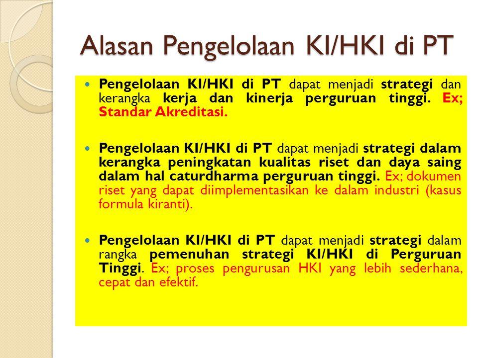 Alasan Pengelolaan KI/HKI di PT