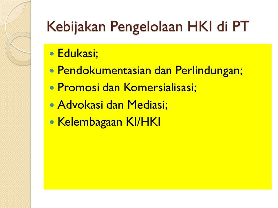 Kebijakan Pengelolaan HKI di PT