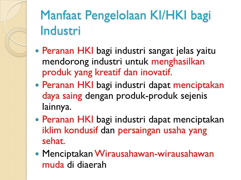 Manfaat Pengelolaan KI/HKI bagi Industri