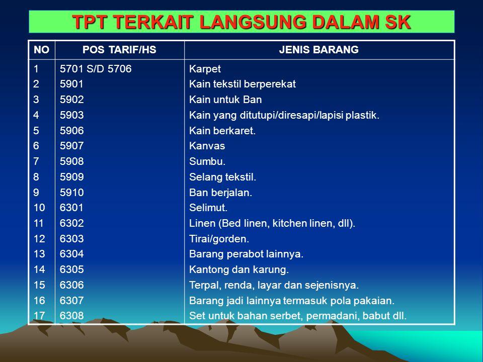 TPT TERKAIT LANGSUNG DALAM SK