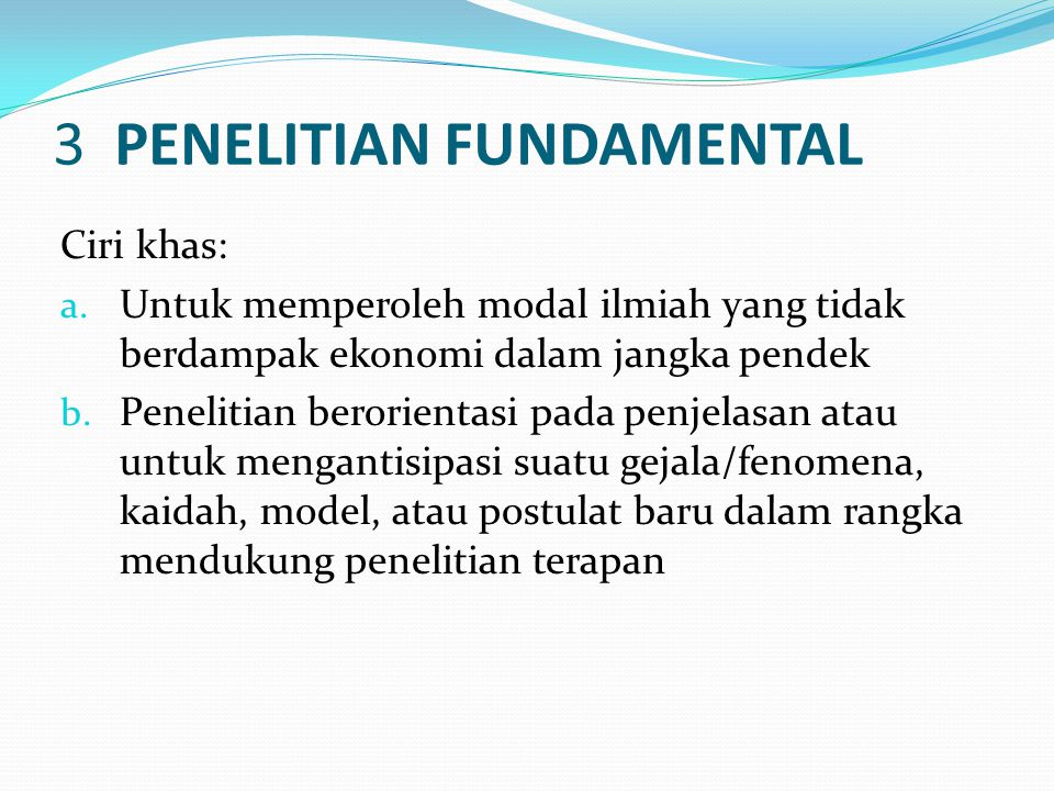 3 PENELITIAN FUNDAMENTAL