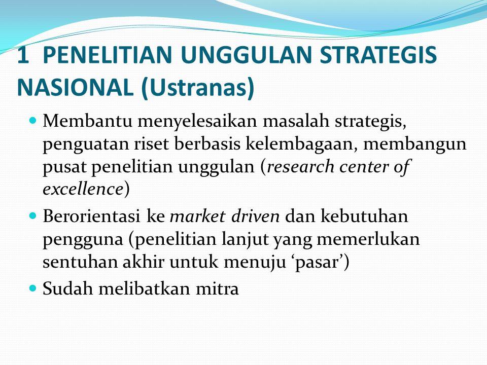 1 PENELITIAN UNGGULAN STRATEGIS NASIONAL (Ustranas)