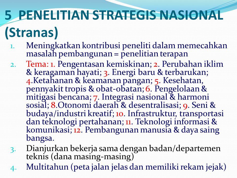 5 PENELITIAN STRATEGIS NASIONAL (Stranas)