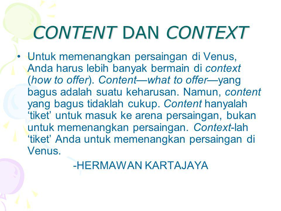 CONTENT DAN CONTEXT