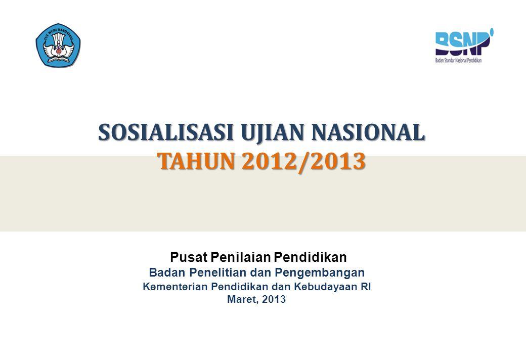 SOSIALISASI UJIAN NASIONAL TAHUN 2012/2013