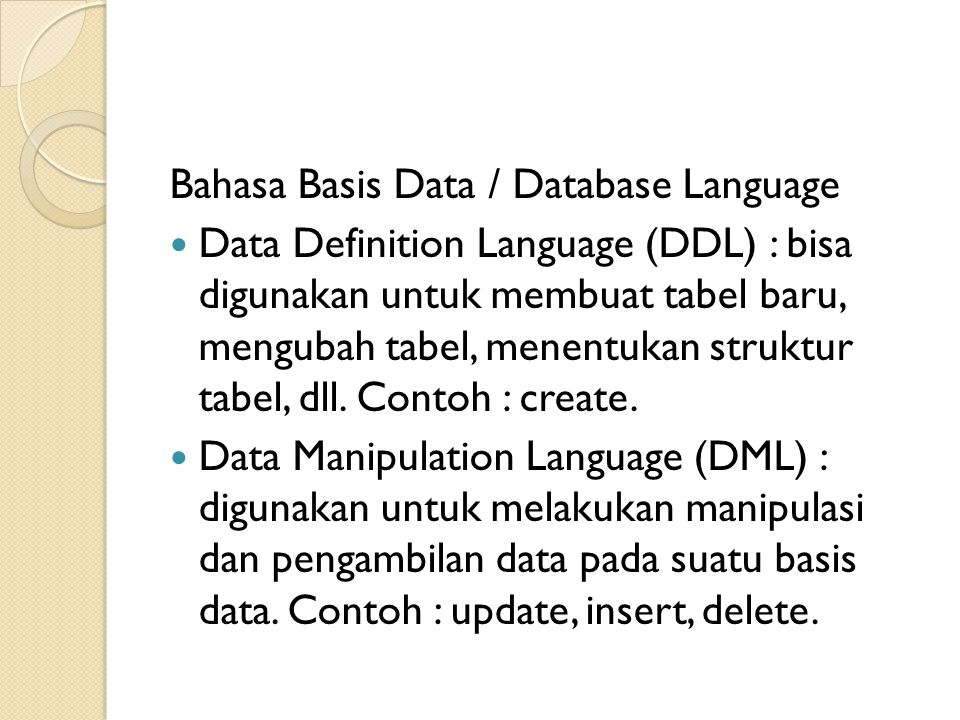 Bahasa Basis Data / Database Language