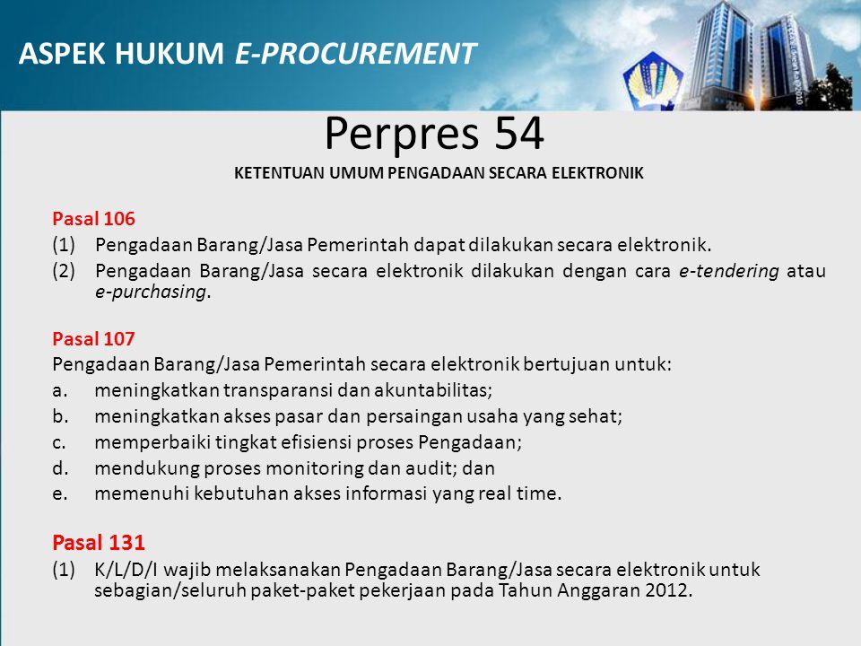 ASPEK HUKUM E-PROCUREMENT