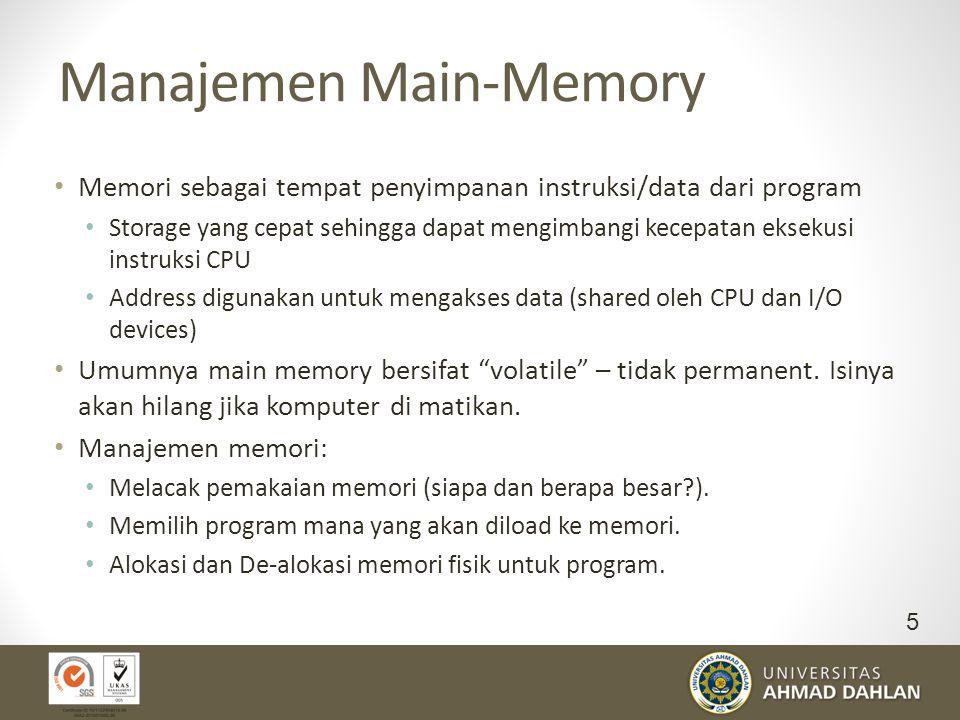Manajemen Main-Memory