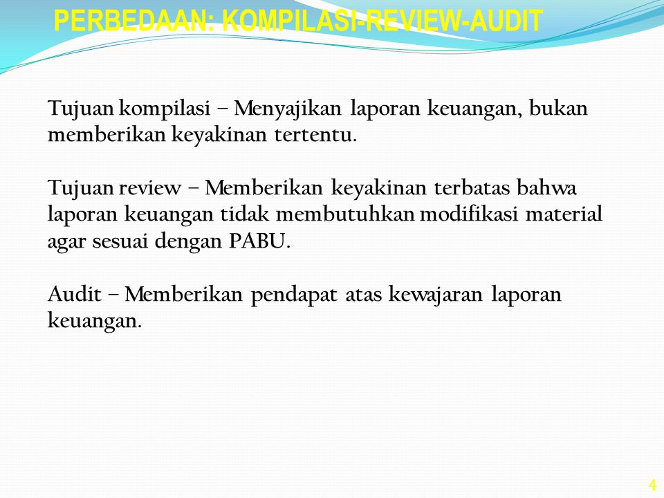 PERBEDAAN: KOMPILASI-REVIEW-AUDIT