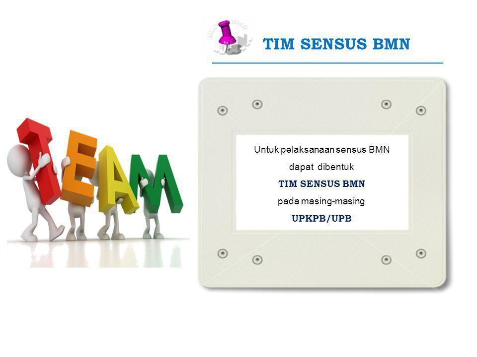 Untuk pelaksanaan sensus BMN
